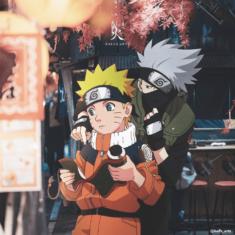 Naruto Uzumaki and Kakashi Hatake