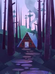 Tiny Cabin by LadyBakon