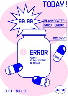 Word Error Blank Poster