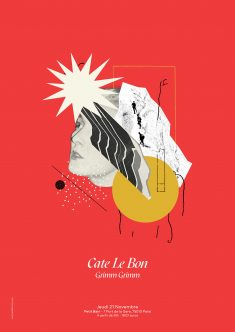 Cate Le Bon – Gig Poster and collage