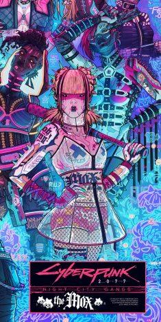 Cyberpunk 2077 gangs posters