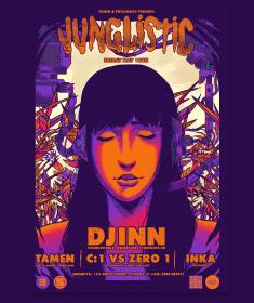 Gig Poster – Cyberpunk Dj – Junglistic