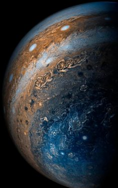 A close up of Jupiter.