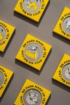 BB PARK · MAKE UP TEA Day Talk Park · Breaking Tea   Packaging Design