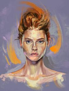 Digital portrait by felixarto