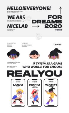 NiceLabStudio-member image design/VI expansion use design