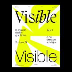 Visible Visible * Type Poster – Editorial Design